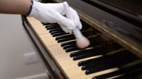 Dust cleaning from piano